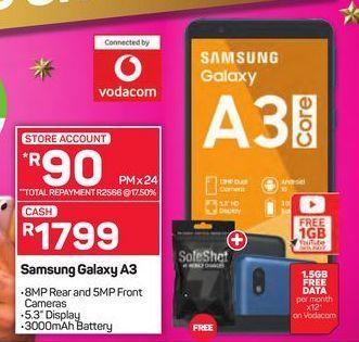Samsung Galaxy A3 offer at R 1799