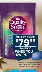 Nestle Quality Street Milk and Dark Chocolates and Toffees offer at R 79,99