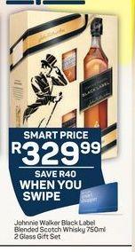Johnnie Walker Black Label Blended Scotch Whisky offer at R 329,99
