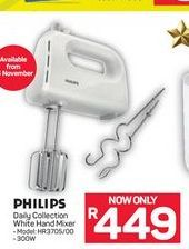 Philips Daily Collection White Hand Mixer offer at R 449
