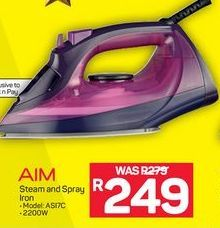 Aim Steam and Spray Iron offer at R 249