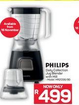 Philips Daily Collection Jug Blender with Mill      offer at R 499