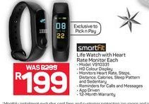 SmartFit Life Watch with Heart Rate Monitor  offer at R 199