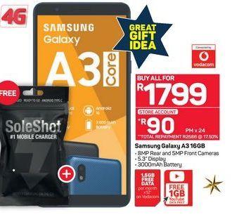 Samsung Galaxy A3 16GB offer at R 1799