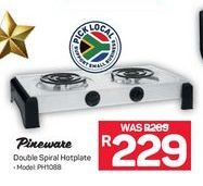 Pineware Double Spiral Hotplate offer at R 229