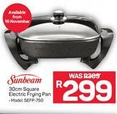 Sunbeam Electric Frying Pan offer at R 299