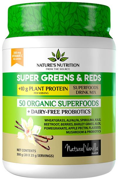 Nature's Nutrition Super Greens & Reds &a... offers at R 530