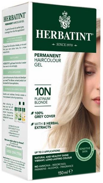 Herbatint Hair Colours - 10N Platinum Blonde offer at R 220