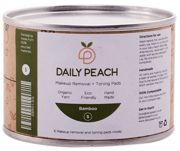 Daily Peach Makeup Removal + Toning Bamboo Pa... offer at R 120