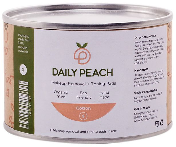 Daily Peach Makeup Removal + Toning Cotton Pa... offer at R 115