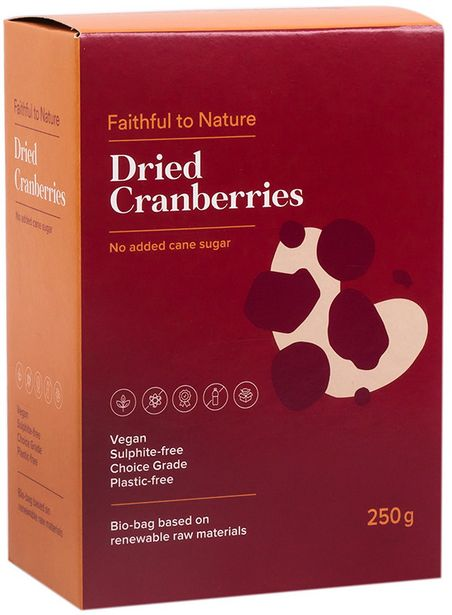 Faithful to Nature Dried Cranberries offers at R 94,99