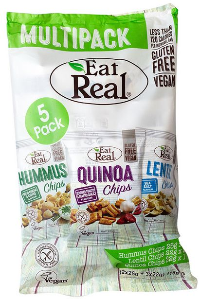 Eat Real Mixed Flavour Chips Multipack offers at R 74,99