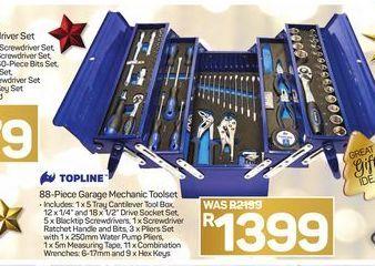 Topline 88-Piece Garage Mechanic Toolset offer at R 1399