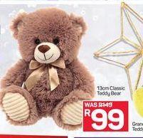 13cm Classic Teddy Bear offer at R 99