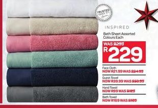 Inspired Bath Sheet  offer at R 229