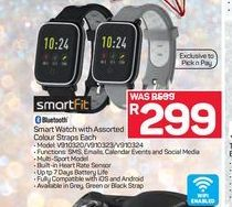 SmartFit Smart Watch with Assorted Colour Straps  offer at R 299