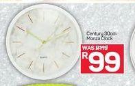 Century 30cm Monza Clock offer at R 99