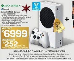 Xbox Series S 512GB Console offer at R 6999