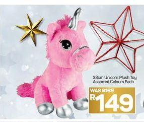 33cm Unicorn Plush Toy offer at R 149