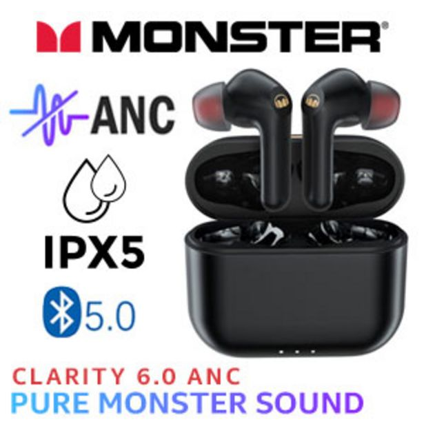 Monster Clarity 6.0 ANC Wireless Headphones - Black offers at R 1199