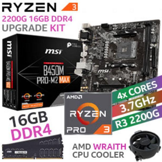 RYZEN 3 PRO 2200G B450M PRO-M2 MAX 16GB 2666MHz Upgrade Kit offers at R 4199