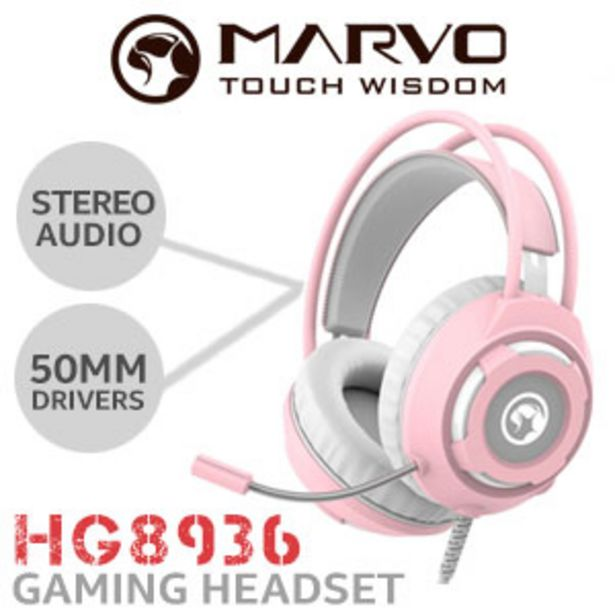 MARVO HG8936 Gaming Headset - Pink offers at R 249