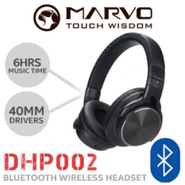 MARVO DHP002 Wireless Headset - Black offers at R 299