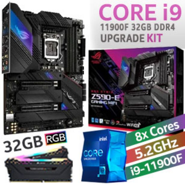 Core i9 11900F ROG Strix Z590-E Wi-Fi 32GB RGB 2666MHz Upgrade Kit offers at R 16999