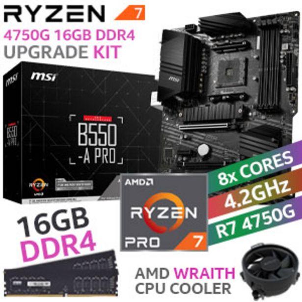 RYZEN 7 PRO 4750G MSI B550-A PRO 16GB 2666MHz Upgrade Kit offers at R 8599