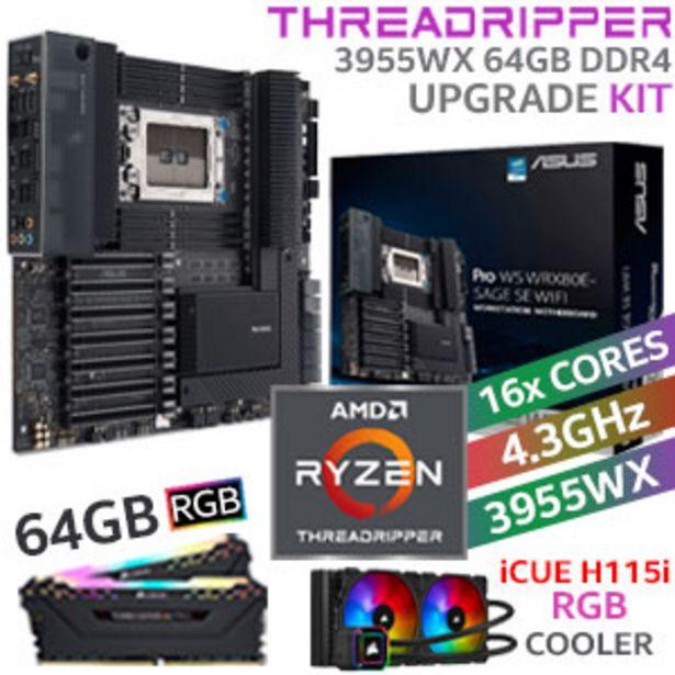 Threadripper PRO 3955WX Workstation 64GB RGB 2666MHz Upgrade Kit offers at R 47499