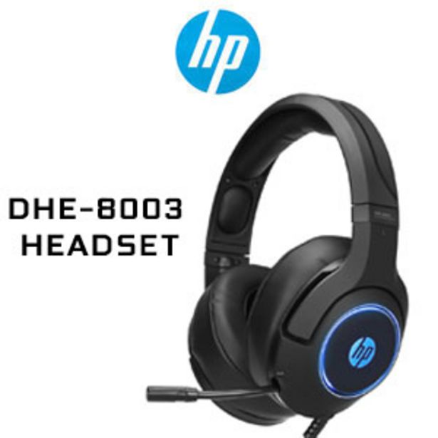HP DHE-8003 Stereo Gaming Headset - Black offers at R 549