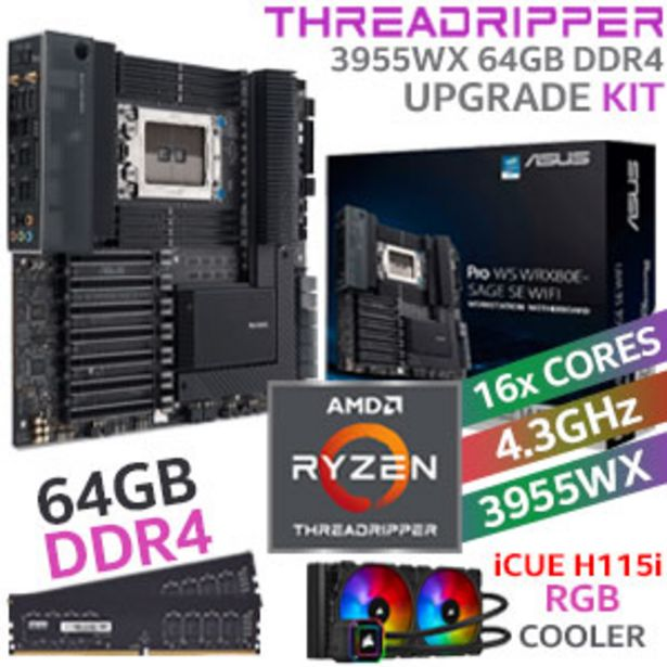 Threadripper PRO 3955WX Workstation 64GB 2666MHz Upgrade Kit offers at R 45999