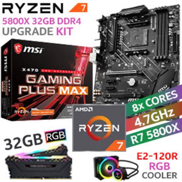 RYZEN 7 5800X X470 Gaming Plus MAX 32GB RGB 2666MHz Upgrade Kit offers at R 13299