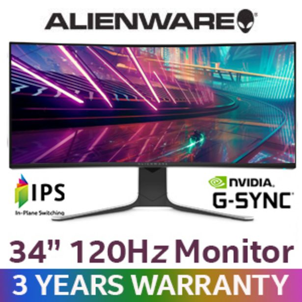 """Alienware AW3420DW 34"""" 120Hz Gaming Monitor offers at R 19999"""