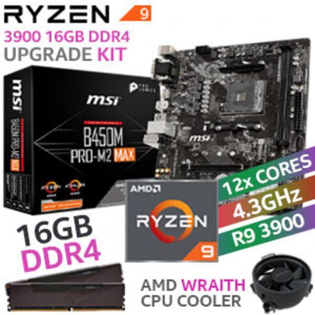 RYZEN 9 3900 B450M PRO-M2 MAX 16GB DDR4 Upgrade Kit offers at R 9799