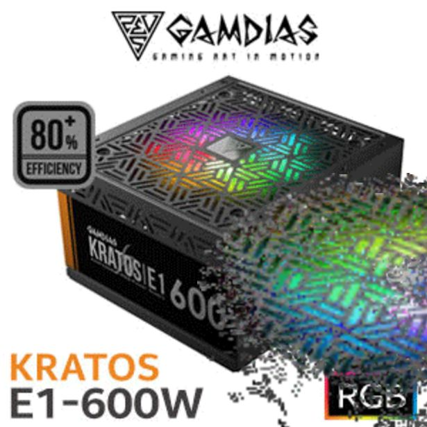 Gamdias KRATOS E1-600 RGB 600W Power Supply offers at R 699