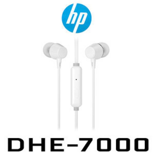 HP DHE-7000 Wired Earphone - White offers at R 49