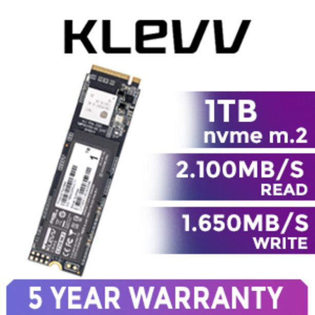 KLEVV CRAS C710 1TB NVMe SSD offer at R 2199