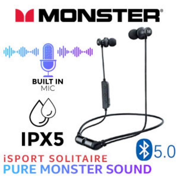 Monster iSport Solitaire Wireless Headphones- Black offers at R 499