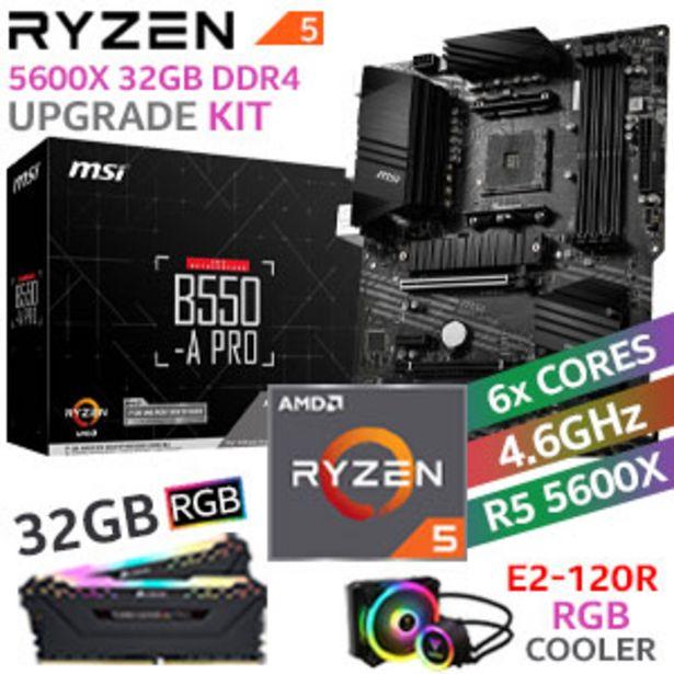 RYZEN 5 5600X MSI B550-A PRO 32GB RGB 2666MHz Upgrade Kit offers at R 10599