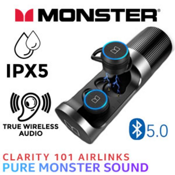 Monster Clarity 101 AirLinks Wireless Headphones - Black offer at R 699