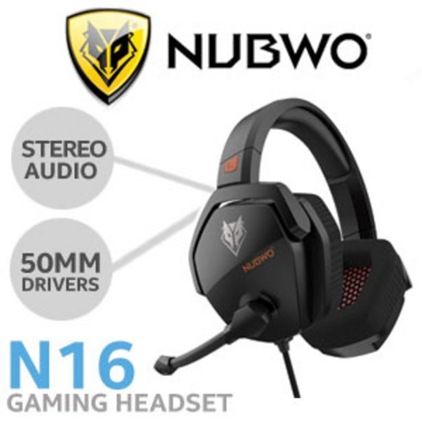 NUBWO N16 Gaming Headset - Black offers at R 349