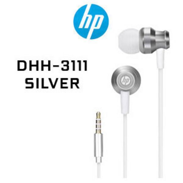 HP DHH-3111 Wired Earphone - Silver offers at R 79