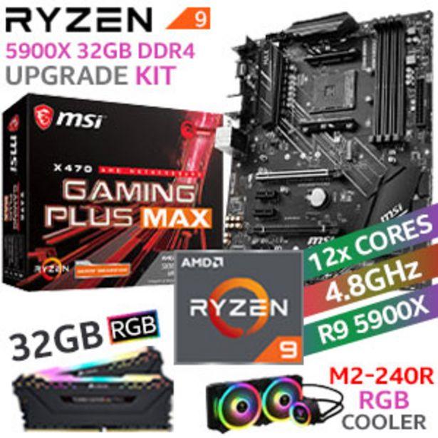 RYZEN 9 5900X X470 Gaming Plus MAX 32GB RGB 2666MHz Upgrade Kit offers at R 14399