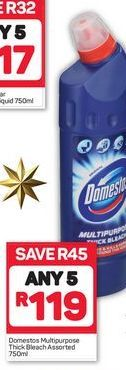 Domestos Multipurpose Thick Bleach 5 offer at R 119