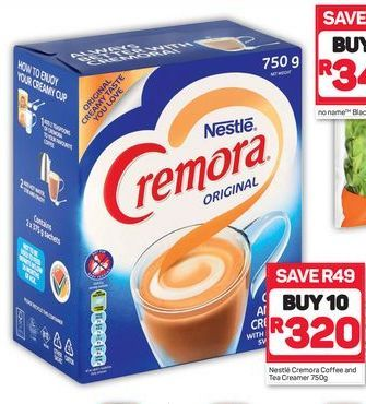 Nestle Cremora Coffee and Tea Creamer 10 offer at R 320