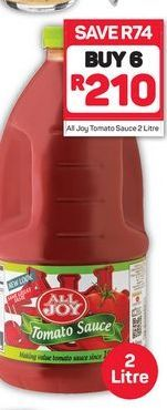 All Joy Tomato Sauce 6 offer at R 210
