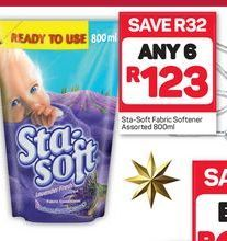 Sta-Soft Fabric Softener 6 offer at R 123