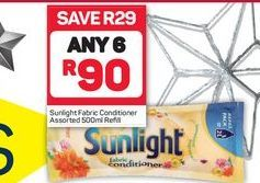 Sunlight Fabric Conditioner 6 offer at R 90