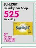 Sunlight Laundry Soap Bar  offer at R 525